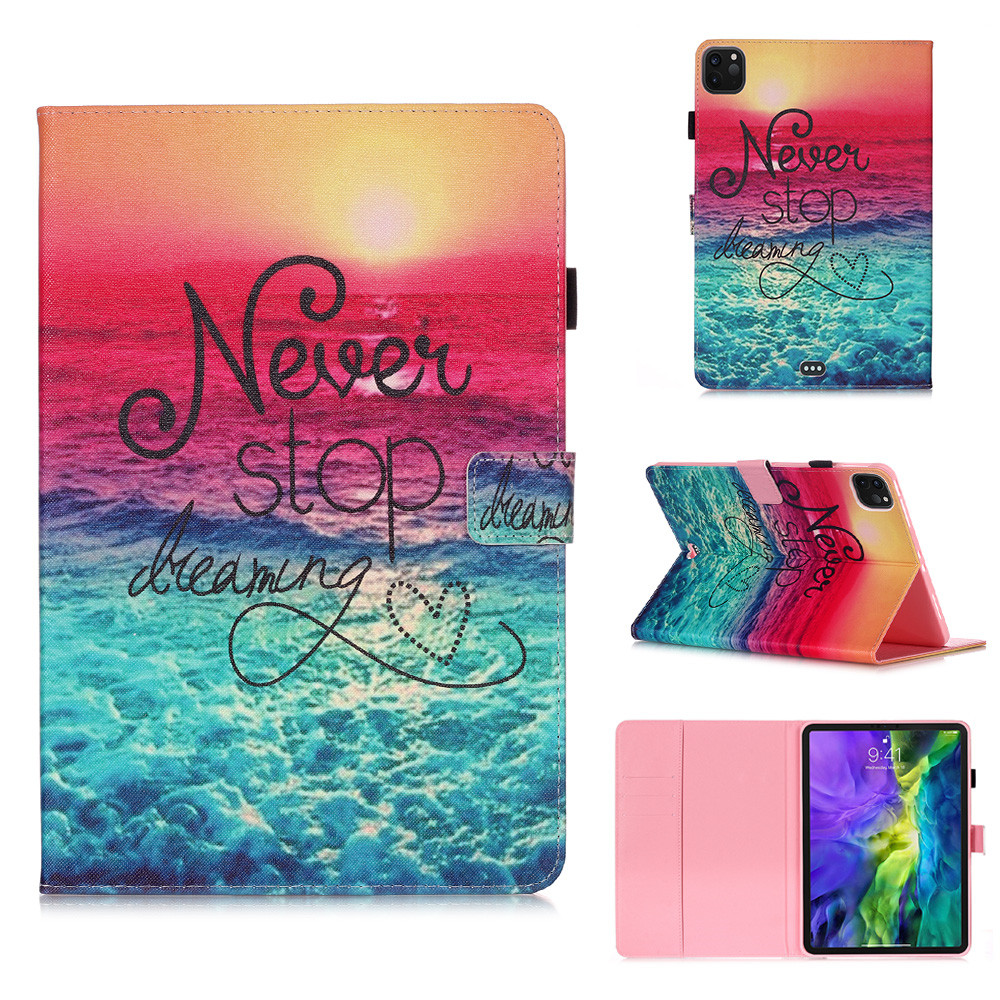 4 Black Owl Flowers Tablet Cover For iPad Pro 11 Case 2020 Coque Wallet Stand Tablet Funda For
