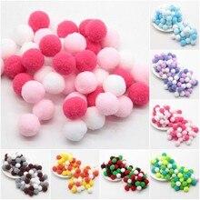 Mini Pompom 8mm-30mm Mixed Color Fluffy Pompones Soft Ball Pompon Balls for DIY Kids