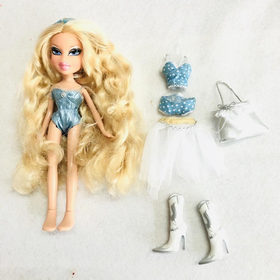 Doll 23cm Original Fashion Bratz Doll Long Blonde Hair Swimwear Mgadoll Best Gift For Child