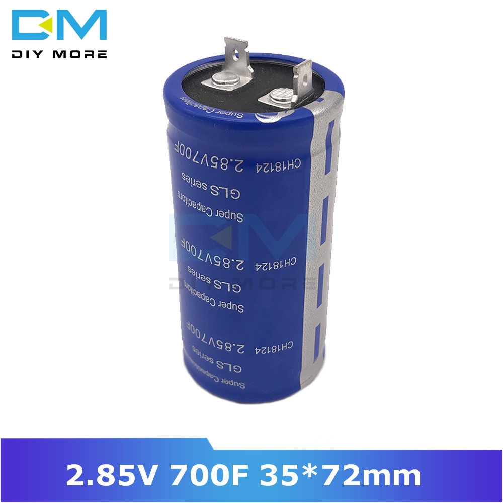 Super Farad Capacitor 2.85V 700F 35*72mm High Frequency Low ESR Flag Feet 35x72mm Ultracapacitor For Car Stereo Speaker