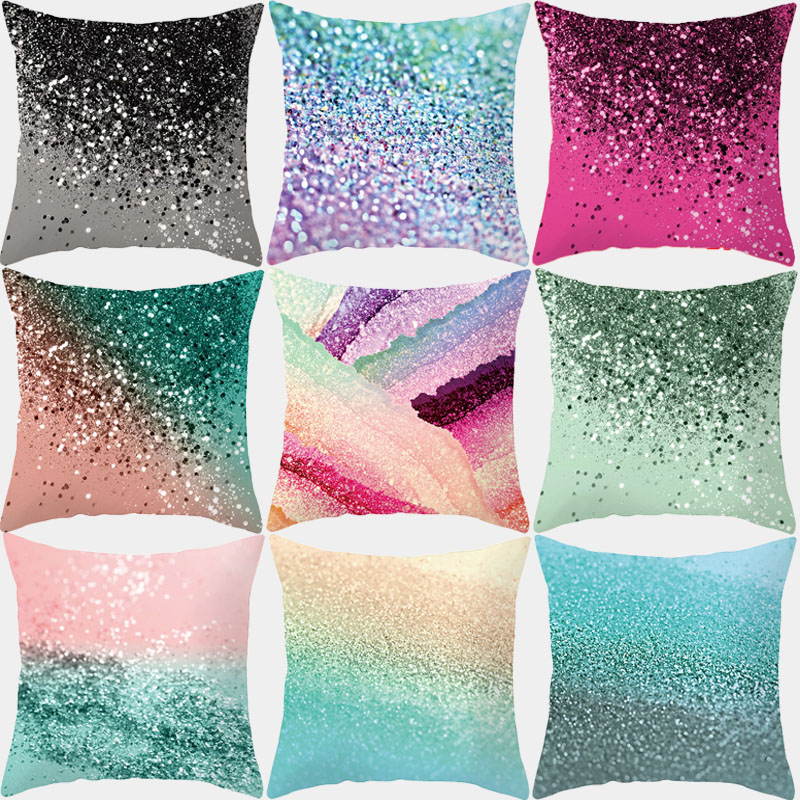 Abstract Geometric Pillowcase Decorative Pillows Cushion Cover Polyester Nordic Multicolor Home Decor Cushions Pillowcover 45*45