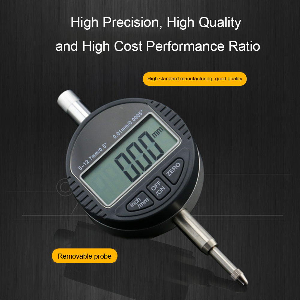 Digital Electronic Micrometer Metric 0.01mm High Accuracy Inch Indicator Range 0-12.7mm Surface Variations Gauge LCD 0.00005