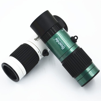15-75X25  MINI Zoom Monocular Telescope BAK4 Spyglass Spotting Scope Travel Tools With Free Tripod svbony sv14 spotting scope 20 60x60 25 75x70mm bak4 zoom 45 de nitrogen birdwatch monocular telescope f9310