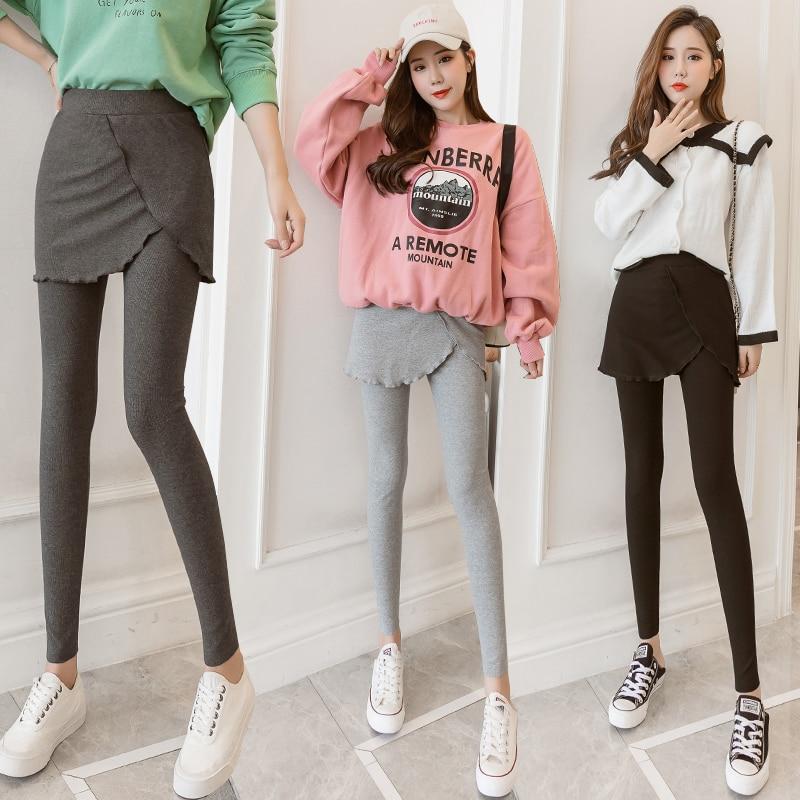 2019 Autumn Winter Women Leggings Casual High-Elastic Sports Pants Plus Size Skirt Leggings High Waist Leggings Jeggings O5A062