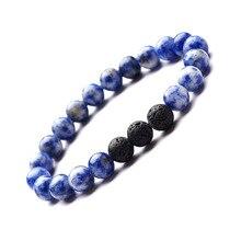 3 мм синий натуральный хрусталь камень многогранные бусины браслет регулируемый для мужчин и женщин богемные дружбы ювелирные изделия с бриллиантами