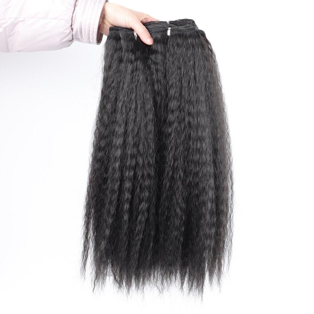 Kinky Straight Synthetic Weave Bundles Hair Black Brown 613 Synthetic Bundles Hair Extensions African Hair Weaving Extensions