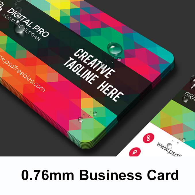 10000Pcs 0.76mm Printing PVC Two Side VIP ID Cards Plastic Round Business Design Calling Paper Cards Custom Waterproof 85.5*54mm