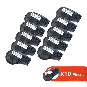 10pcs Label Tape for M21-500-595 Black on White 12.7mm Width Compatible for Brady BMP21-PLUS IDPAL and LABPAL Label Printer