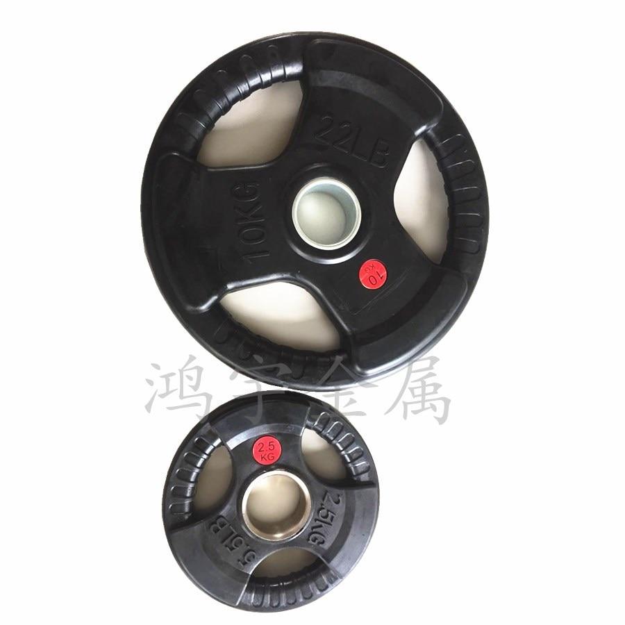 Barbell Disk Tasche Kunststoff Hand PCs mit Großen Loch PCs 3 loch Olympischen Pol Kommerziellen Verwenden Gym Set Gewichtheben - 2