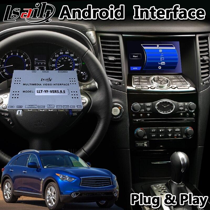Lsailt nawigacja GPS do samochodu z androidem interfejs nawigacyjny do Infiniti QX70 QX50 QX 2014-2019 rok obsługuje bezprzewodowe carplay i adas