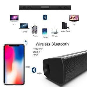 Image 5 - Barra de som estéreo wireless bluetooth de 20w, alto falantes de home theater, barra de som para tv, sistema de som surround duplo, subwoofertas