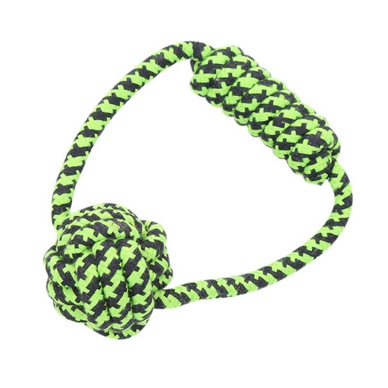 Jeu de jouets en corde de coton résistant aux morsures pour animaux de compagnie