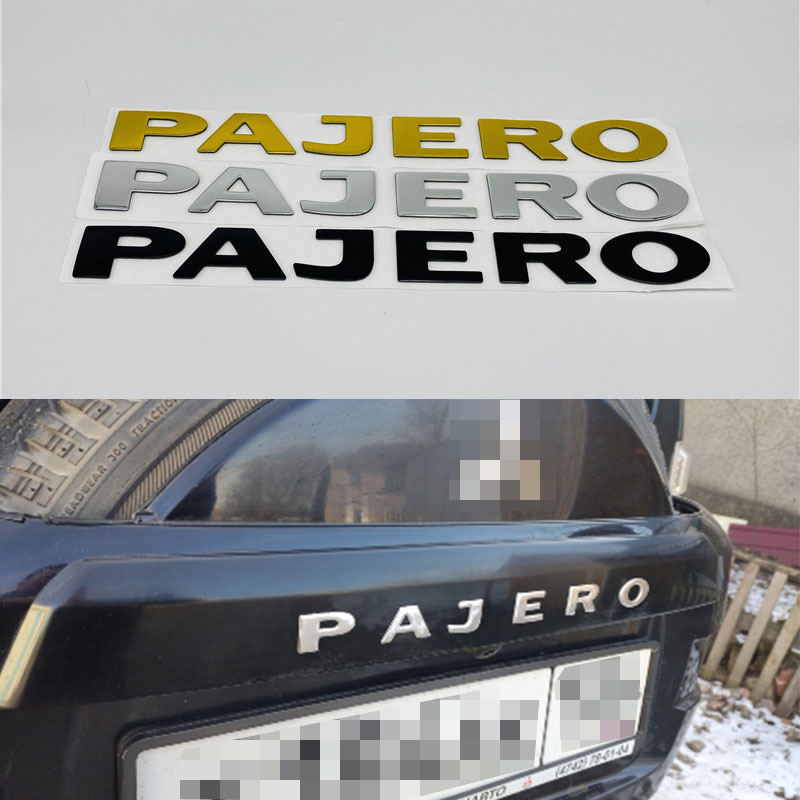 3 Colors For Mitsubishi Pajero Emblem Rear Trunk Tailgate Logo Nameplate Car Stickers 22CM
