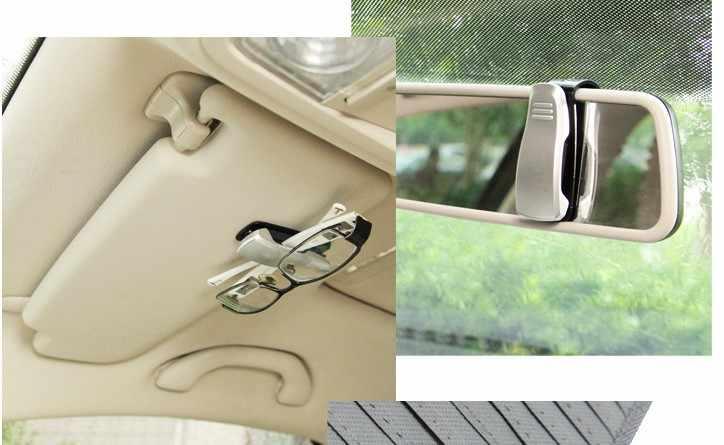 Mobil Kacamata Klip Pemegang Tiket Klip untuk Volkswagen Golf 4 5 6 POLO Passat B5 B6 B7 CC Mk6 Tiguan gol Cross Fox Plus EOS Scirocco