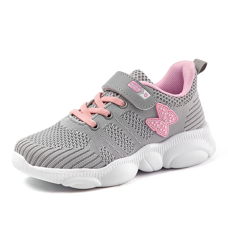 Kids Shoes Lightweight Girls Sneakers Children Running Shoes Walk Child Sports Trainers Boys Knit Mesh Casual Low-top Sneakers