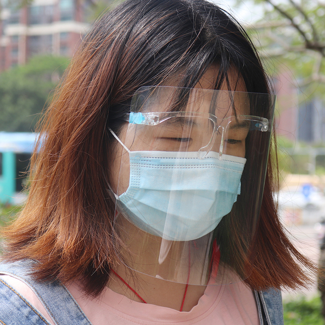 Anti-Saliva Dustproof Mask Transparent  Safety Faces Shields Screen Spare Visors Head Face Respiratory tract Protection 3