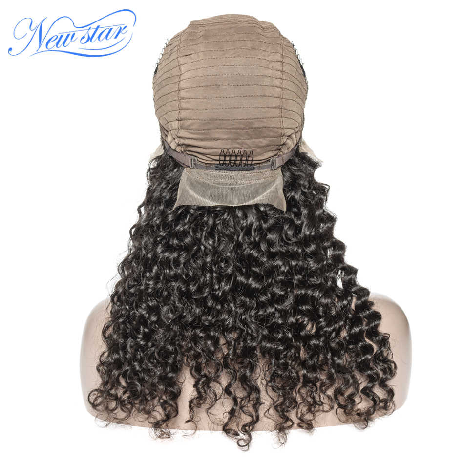 Парики из бразильских виргинских человеческих волос с глубоким волнистым кружевным фронтальным париком 200% Плотность 13x4 для черных женщин