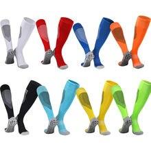 Дышащие футбольные чулки Нескользящие нейлоновые носки впитывающие