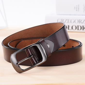 JIFANPAUL Genuine leather ladies fashion retro punk belt alloy pin buckle high quality ladies business casual  trend jeans belt 4