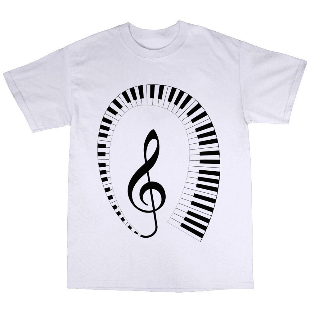 Keyboard Piano Player Pianist T Shirt Men Women Premium Cotton Gift Present Tee Shirt Custom special print image