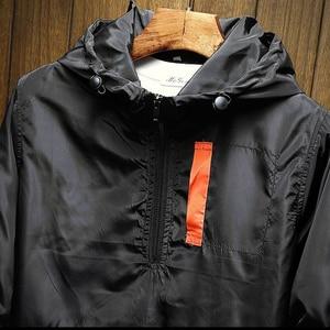 Image 5 - חדש גברים של מעיל עמיד למים אביב ובסתיו ברדס מעיל מעיל רוח מותג XL 5XL סתיו דק מעיל סוודר Portswear