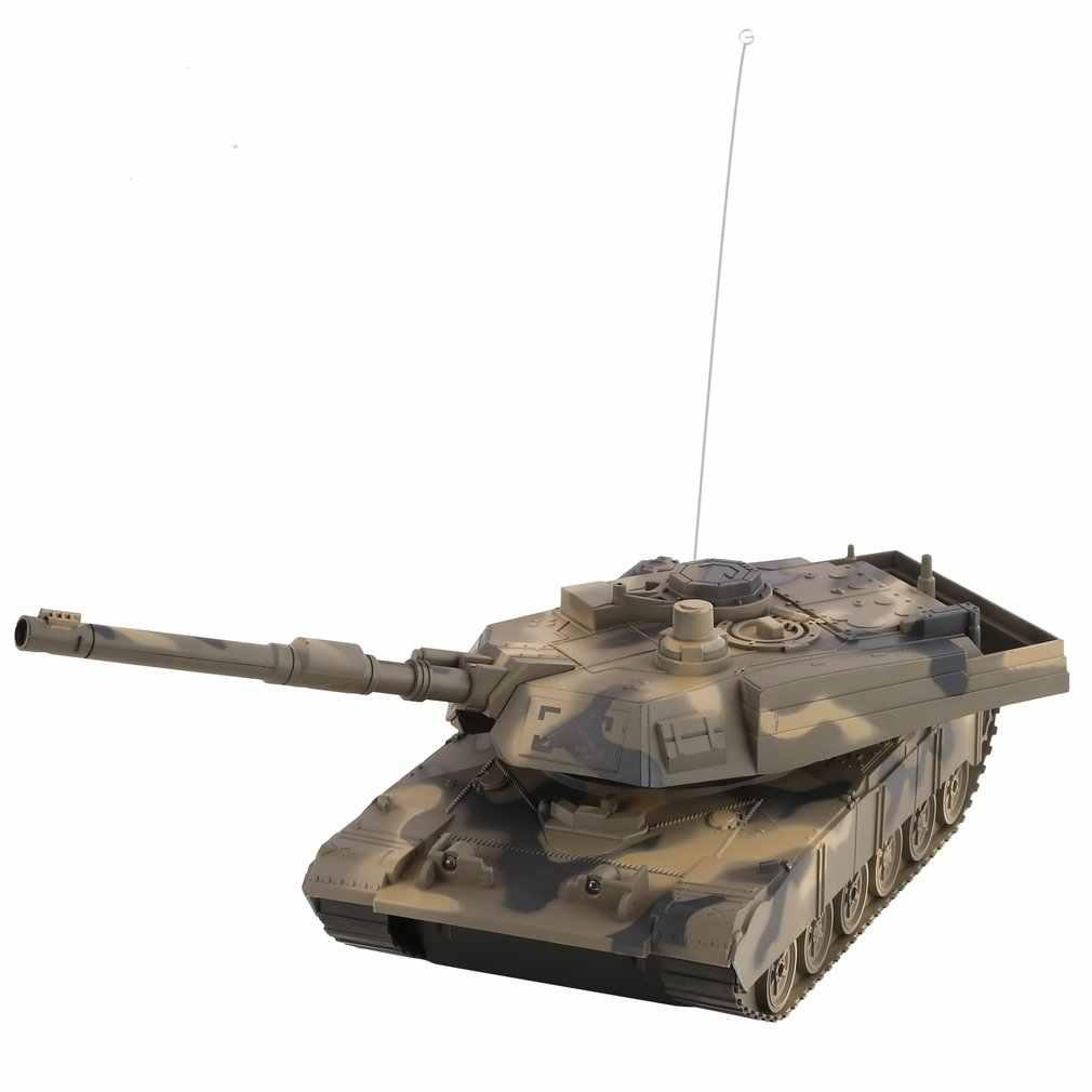 1:14 4CH סימולציה RC צבאי טנק צריח סיבוב אור & מוסיקה שלט רחוק דגם ארוך מרחק שליטה ילדים צעצוע מתנה