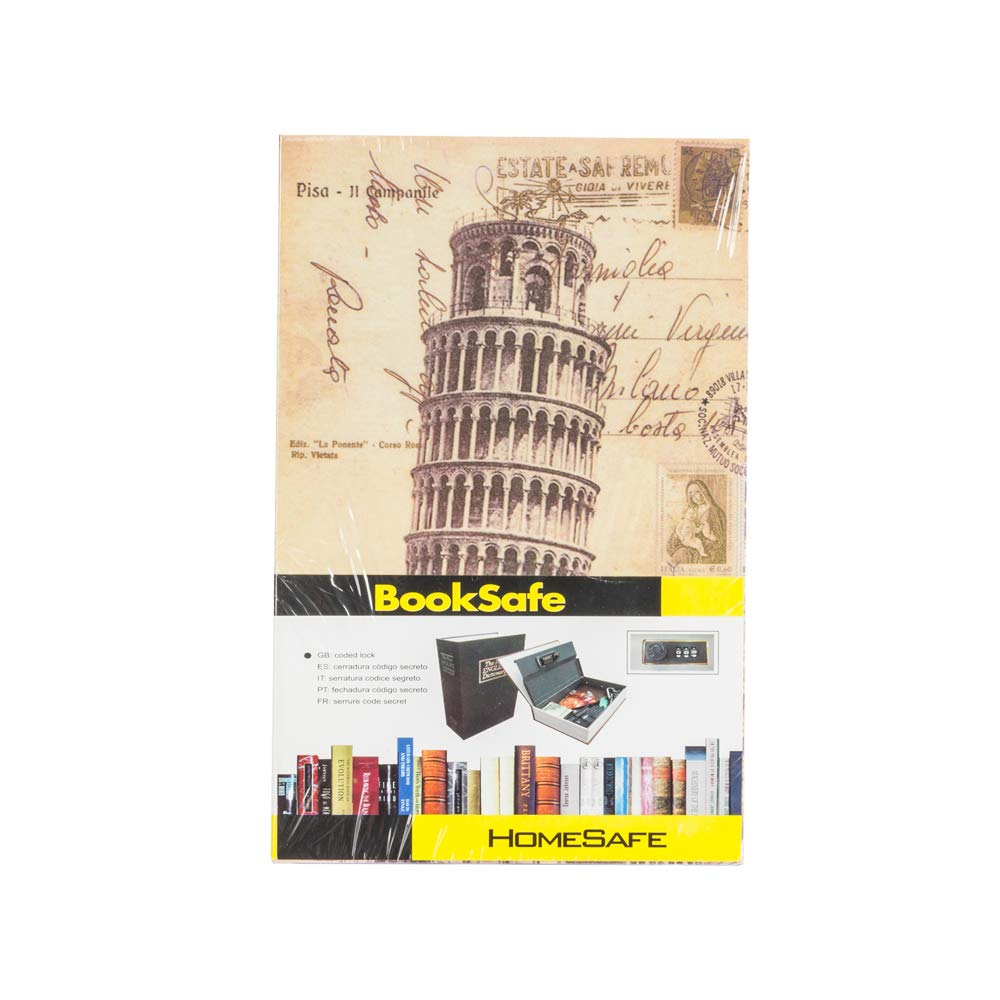 Mini Safety Storage Box Cute Simulation English Dictionary Style The Leaning Tower Of Pisa For Save Keys And Money