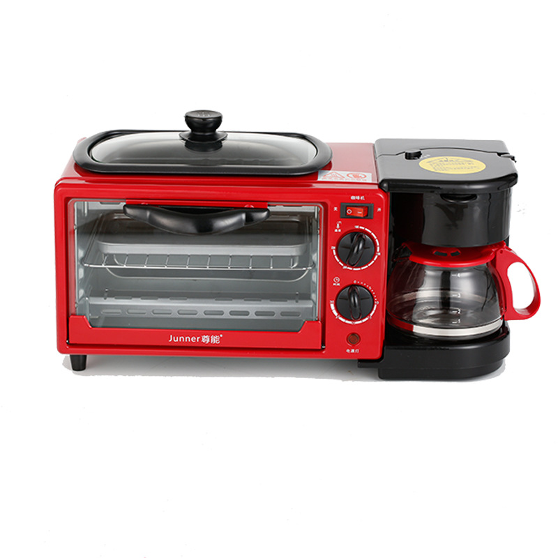 3 in 1 very small breakfast drip coffee fry dish baking pizza oven machine