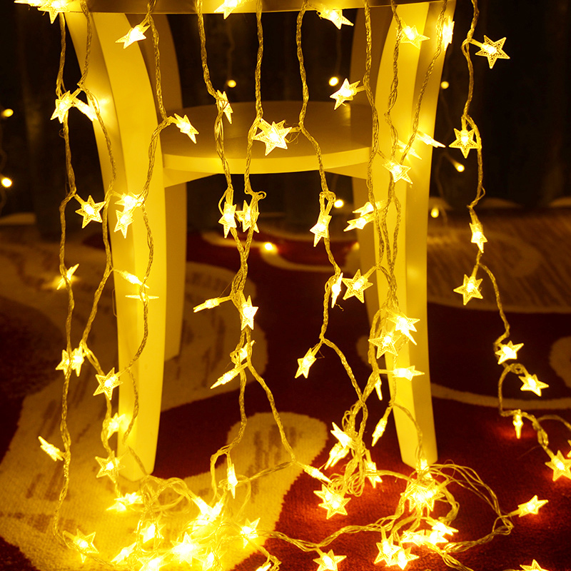 1.5/2/3/5meter Led Star String Lights Led Fairy Lights Battery String Lights Garland Star For Iftar Wedding Birthday Party Decor