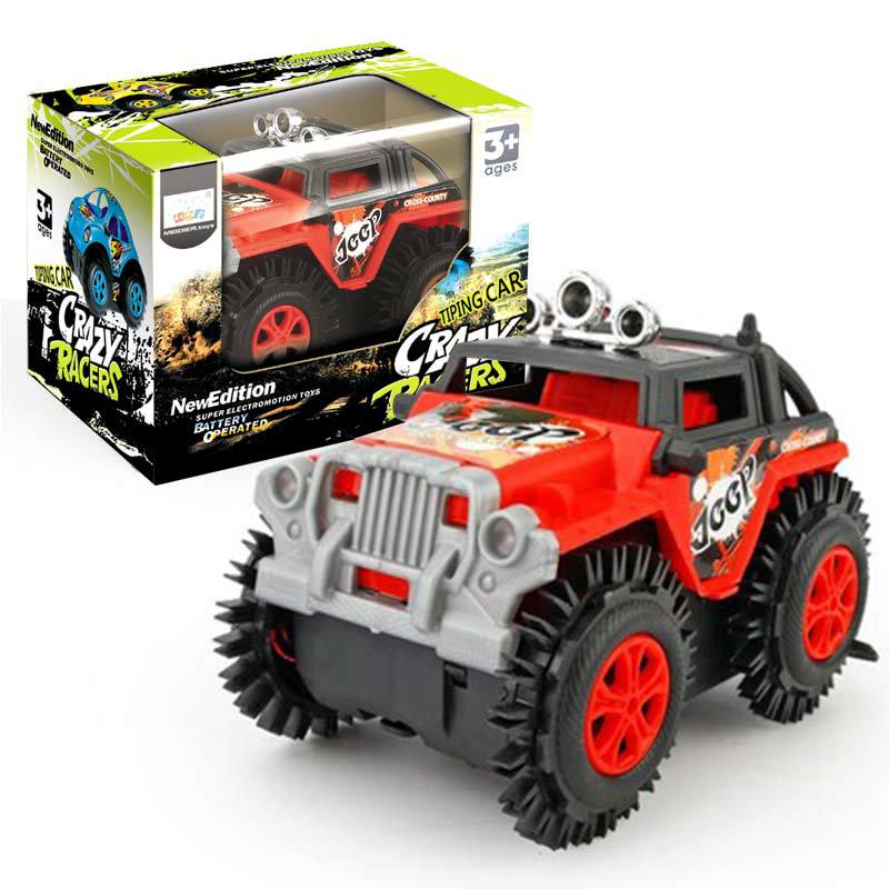 Cross Border For CHILDREN'S Toy Off-road Stunt Dump Truck Electric Car Foreign Trade Night Market Stall