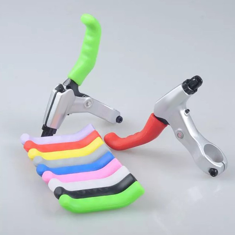 1x Silicone MTB BMX Bike Bicycle Brake Lever Grips Protector Sleeves Covers Hot