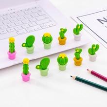 5 pcs/set Kawaii Creative Cartoon Cactus Eraser Set kawaii Eraser for kids rubber school pencil eraser stationery