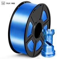 Filamento PLA di seta 1kg 1.75mm colore lucido trama elevata tenacità tolleranza diametro/-0.02mm materiali di stampa stampante 3D FDM