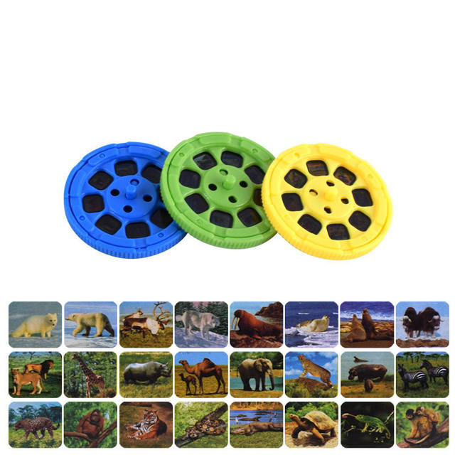 Balleenshiny Parent-child Interaction Puzzle Early Education Luminous Toy Animal Dinosaur Child Slide Projector Lamp Kids Toys 3