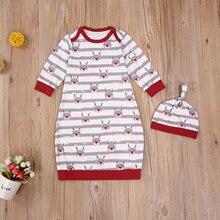 Blanket Sleeping-Bags Long-Sleeve Cartoon-Print Baby Kids Children's Infant 0-6M