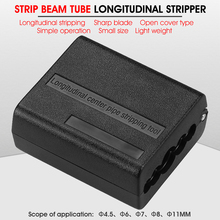 Luźne rury slitter 4.5mm 11mm kabel taśmowy Stripper podłużne centrum rury narzędzie do usuwania izolacji rury Slitter Cable Cutter