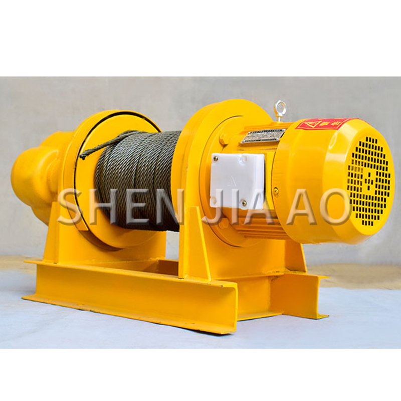 1PC 1T Heavy Construction Winch Machine Small Crane For Dock Construction Site 30M Electric Hoist Crane Winch Pure Copper Motor