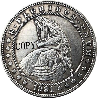 Hobo Nickel 1921-D USA Morgan Dollar COIN COPY Type 169