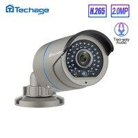 Techage H.265 2.0MP bezpieczeństwo CCTV POE kamera IP dwukierunkowe Audio IR zewnętrzna wodoodporna kamera wideo 1080P P2P Onvif AI w Kamery nadzoru od Bezpieczeństwo i ochrona na