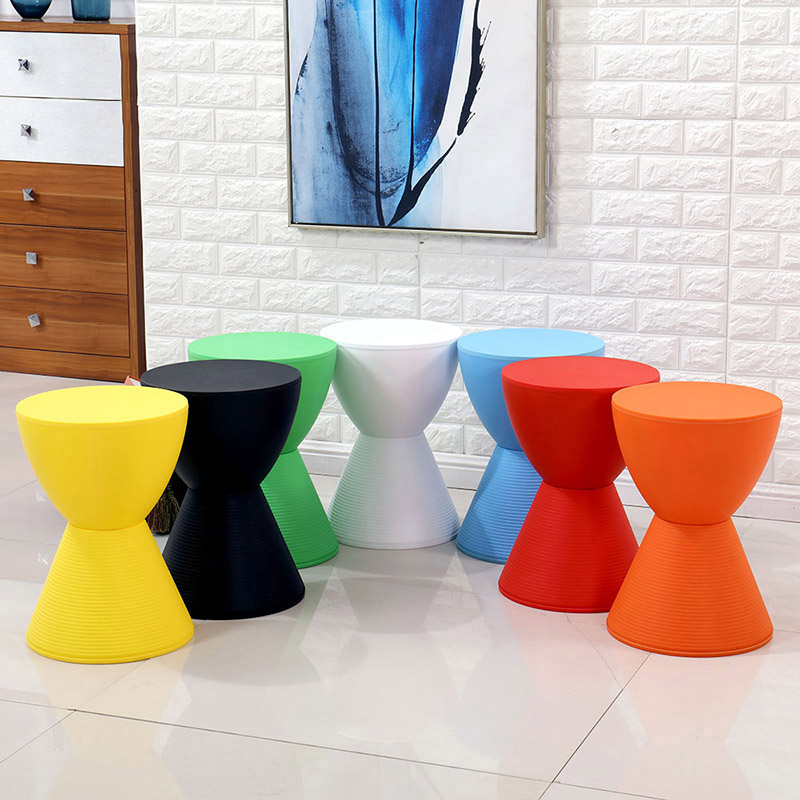 Nordic INS Creative Plastic Stool Restaurant Dining Stool Living Room Office Business Home Bedroom Study Bathroom Plastic Stool