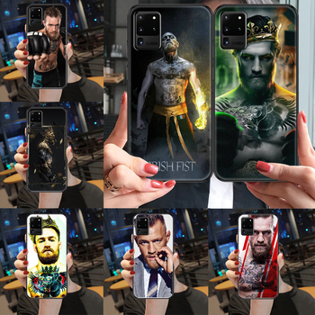 Irish Fighter Conor McGregor Phone case For Samsung Galaxy Note 4 8 9 10 20 S3 S5 S8 S9 S10 S20 Plus UITRA Ultra black silicone image