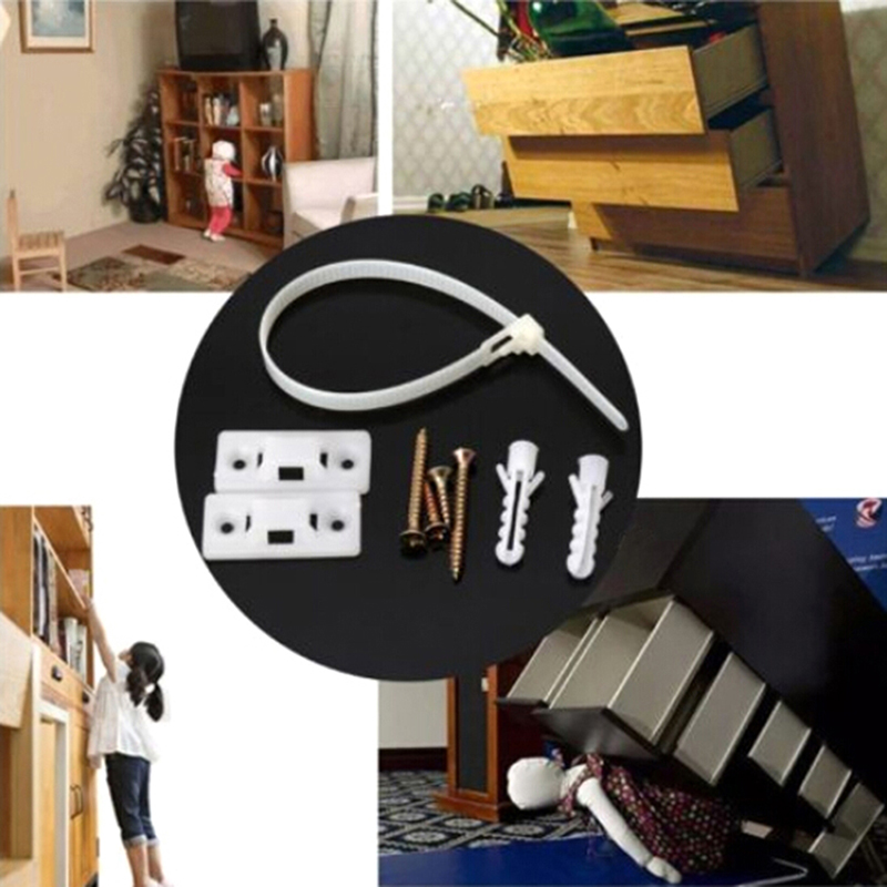 1X Baby Safety Anti-tip Straps For Flat TV And Furniture Wall Strap Lock Protection
