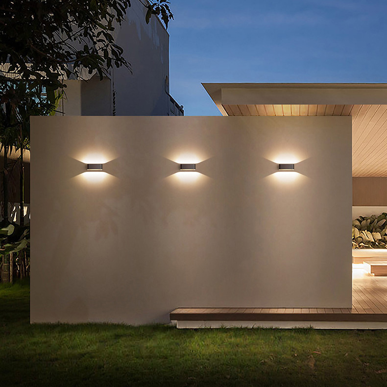 luzes de parede de alumínio decoração