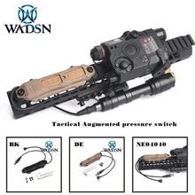 WADSN, страйкбол, дистанционный переключатель давления для оружия, светильник, двойная кнопка, Охотничий Тактический светодиодный светильник-вспышка, PEQ M3X, аксессуары WNE04040