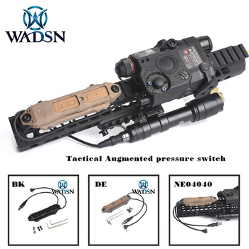 WADSN Airsoft PEQ15 Remote Pressure Switch for DBAL D2 Weapon Light Dual Button Hunting Tactical LED Flashlight PEQ  Accessories remote pressure switch scout weapon light tail dual button outdoor hunting led flashlight peq 16a m3x accessories wne04040