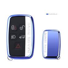 Car Key Cover Case TPU  Car Styling Key Cover Case For Land Rover RANGE ROVER SPORT Freelander 2 DISCOVERY 4Evoque