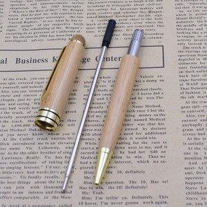 Image 3 - (12 Teile/los) luxus Bambus Stifte für Schreiben Werkzeug Schreibwaren Schreibwaren Schule Büro Zubehör 0,5mm Schwarz Tinte Kugelschreiber