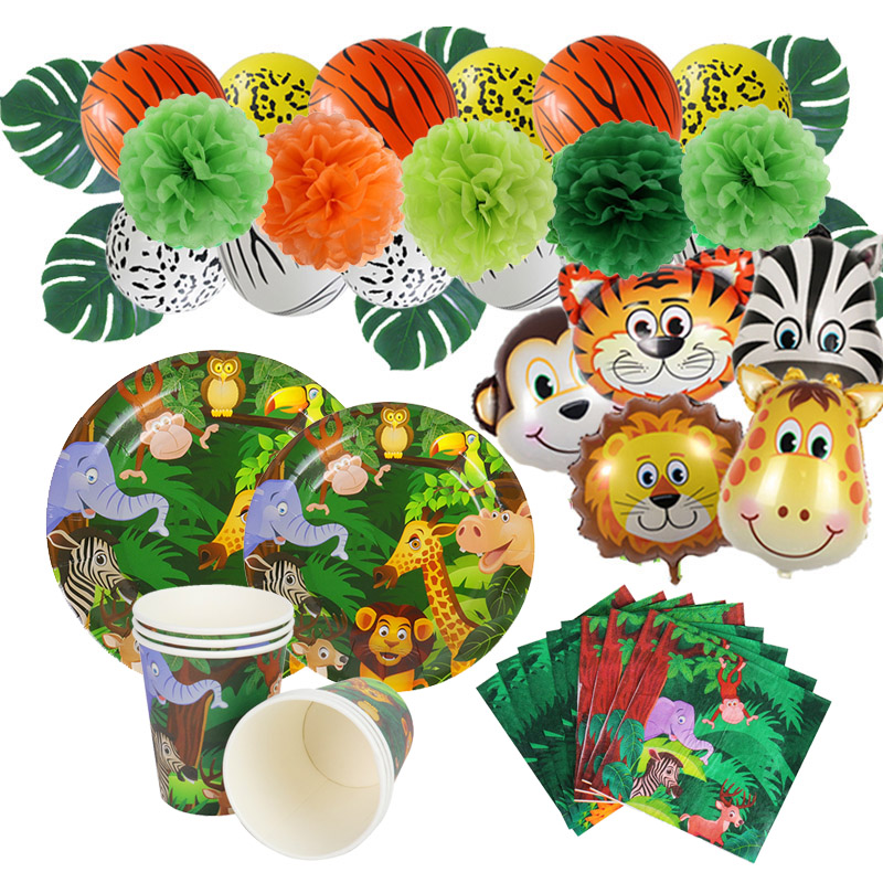 Woodland Party Animals Birthday Party Decoration Kids Safari Party Table Decor Forest Jungle Theme Party Supplies Baby Shower