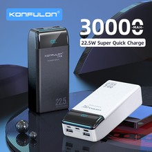 QC 3.0 Power bank 30000mah PowerBank Batterie Externe пауэр банк PD20W Prtable Charger For Iphone12 / Notebook For Mobile Phone