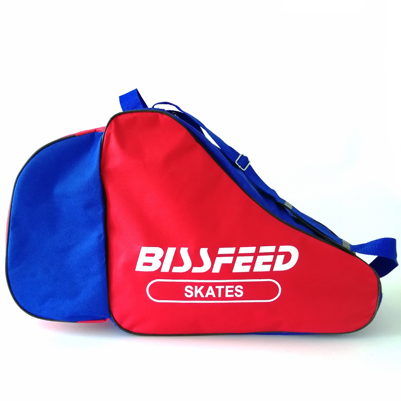 One Piece Triangle Ice Skating Speed Roller Skate Shoes Bag Portable Carry Shoulder Strap Nylon Bag Case For Adult Children Kids